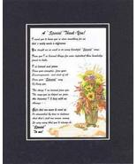 Touching and Heartfelt Poem for Thank-You - A Special Thank You Poem on ... - $19.95