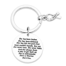 Breast Cancer Gifts Inspirational Keychain Cancer Awareness Jewelry Moti... - $18.53