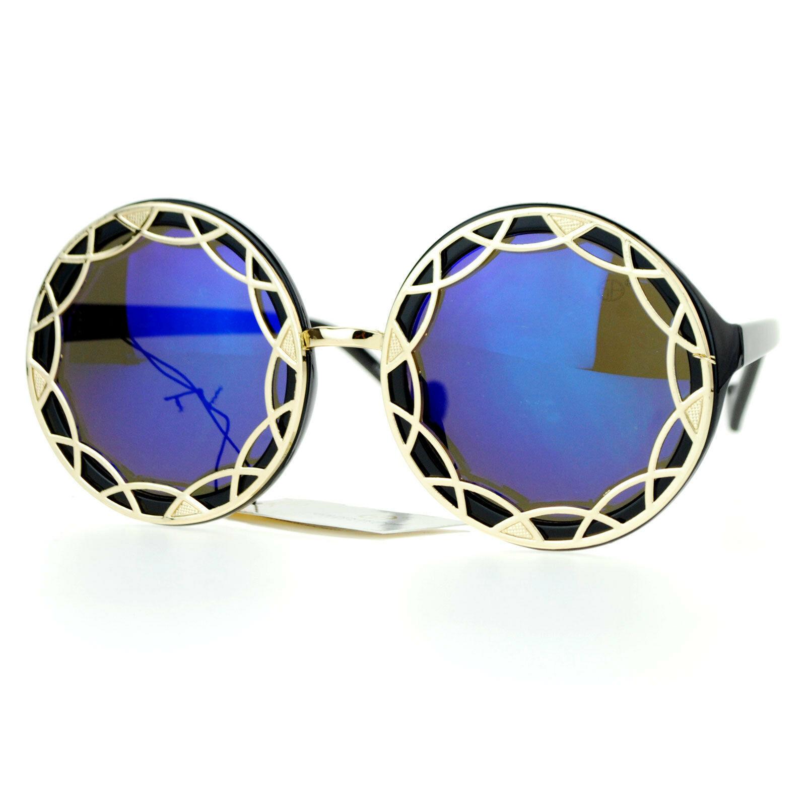 Designer Outline Framed Fashion Sunglasses Womens Oversized Round