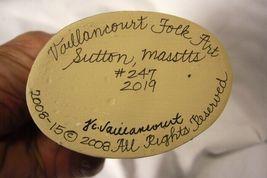 Vaillancourt Folk Art, Colonial Lady Rabit Gardener signed by Judi! image 4