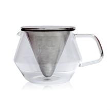 Kinto 850 ml (29 fl. oz) Glass Carat Teapot Infuser - Specialized Lid & ... - $37.61