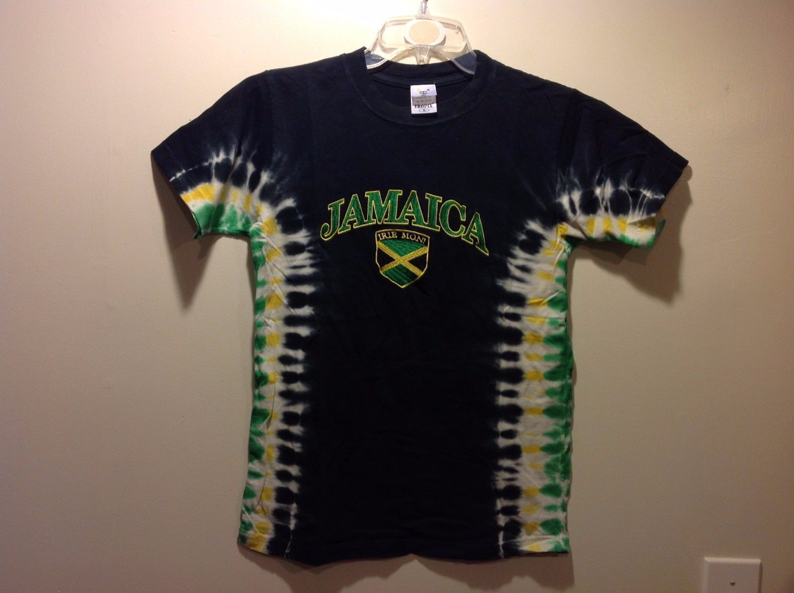 TROPIX Tie Dye Jamaican Flag Print T Shirt Sz Small