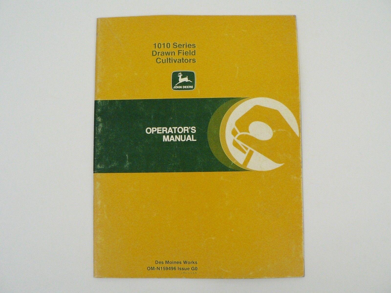 John Deere Owners Manual 1010 Series Drawn Field Cultivators Trouble  Shooting