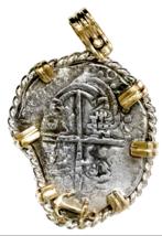 ATOCHA FLEET 1620 8 REALES COA 14KT PENDANT PIRATE GOLD COINS JEWELRY NE... - $2,150.00