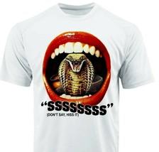 Sssss Dri Fit graphic Tshirt moisture wicking superhero retro comic SPF tee image 1