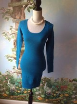 Planet Gold Women's Blue Long Sleeve Knit Dress SZ Small - $24.74