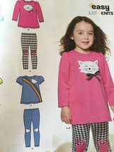 New Look Sewing Pattern 6332 Toddler Girl Knit Leggings Tunic Size 1/2-4... - $11.07