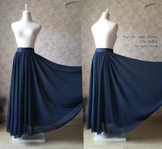 Women High Waisted Maxi Chiffon Skirt Summer Wedding Chiffon Skirts Many Colors image 12