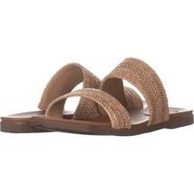 Steve Madden Dede Double Strap Flat Sandals 699, Natural, 10 US - $24.95