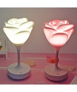 Rose Night Light for Kids Bed Room Table Lamp Baby Feeding Lamp Glowing ... - €17,46 EUR