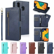 For Samsung Galaxy A20 A30 A50 A70 Detachable Leather Zipper Wallet 9 Card Cover - $68.89