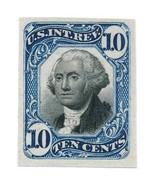 R109P3 10c George Washington Second Issue Revenue Blue & Black Stamp Pro... - €20,08 EUR