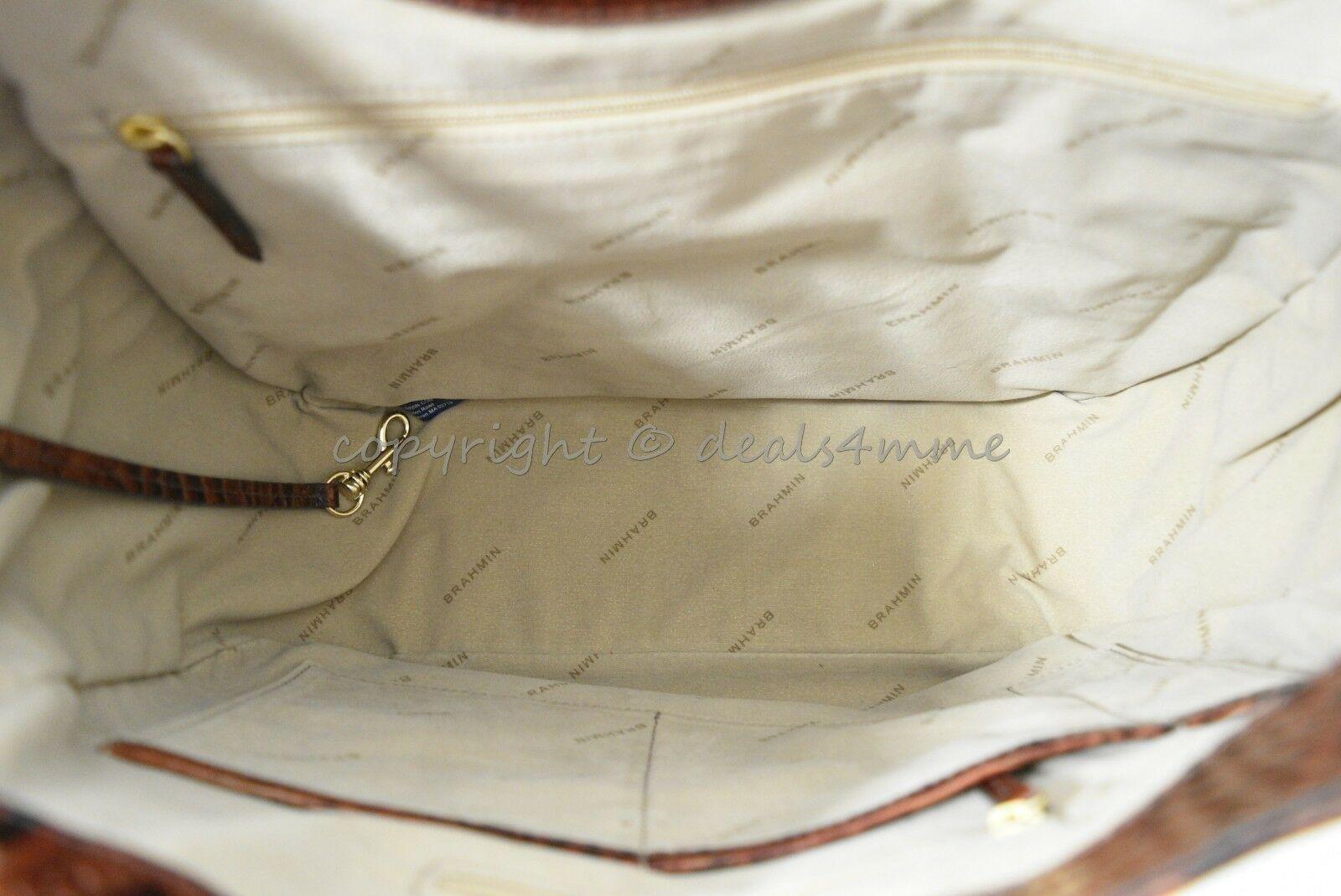 NWT Brahmin Marianna Leather Tote / Shoulder Bag in Pecan Melbourne image 10