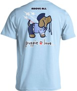 Puppie Love Rescue Dog Adult Unisex Short Sleeve Graphic T-Shirt, Air Fo... - $19.99