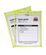 C-Line Neon Stitched Shop Ticket Holders, Yellow, Both Sides Clear, 9 x ... - $23.65