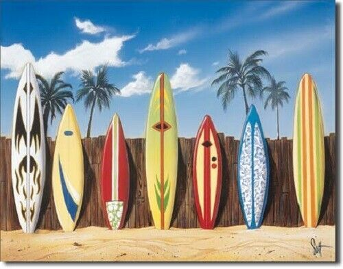 Primary image for New Westmoreland Surfing Starting Lineup Decorative Metal Tin Sign