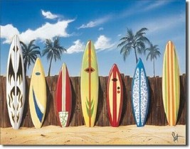 New Westmoreland Surfing Starting Lineup Decorative Metal Tin Sign - $9.41
