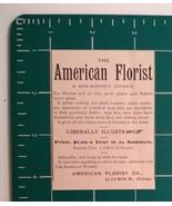 1881 American Florist Journal Advertisement Chicago - $25.00