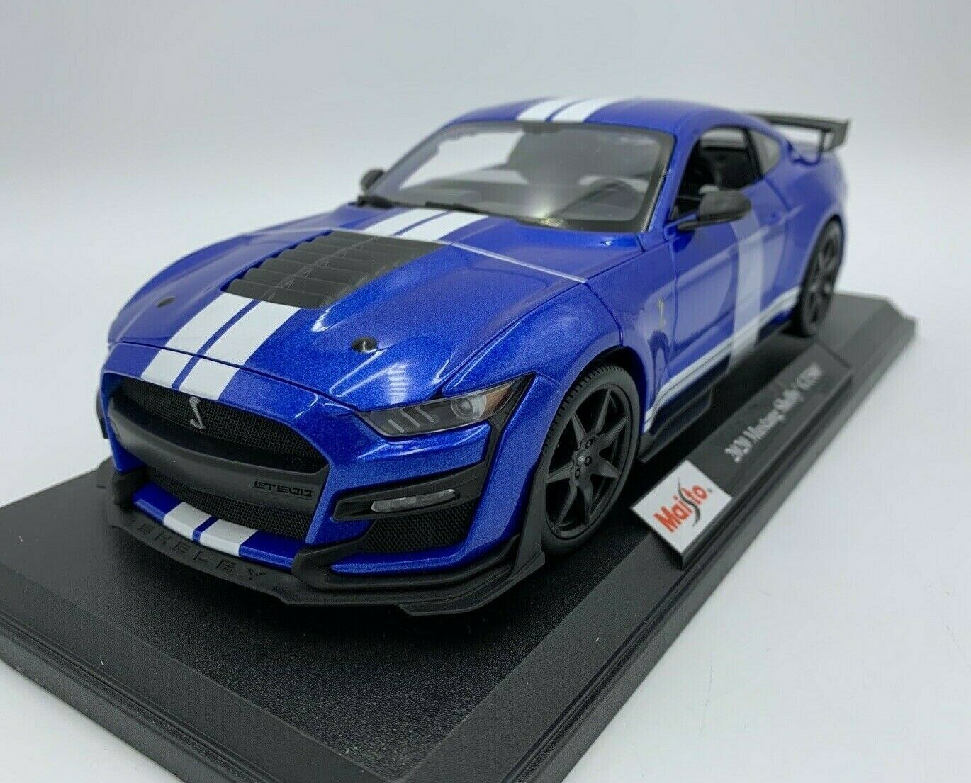 Primary image for 2020 Ford Mustang Shelby GT500 Blue Die Cast 1/18 Maisto Special Edition