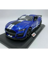 2020 Ford Mustang Shelby GT500 Blue Die Cast 1/18 Maisto Special Edition - $33.99