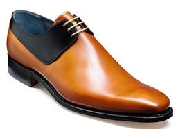 Handmade mens shoes Mens tan and black derby shoes Men laceup shoes Men shoes - $159.99