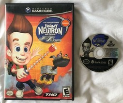 ☆ Jimmy Neutron Boy Genius Jet Fusion (Nintendo GameCube 2003) Game & Ca... - $7.49