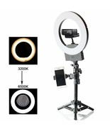 "10"" Selfie Ring Light 3200K-6500K for Webcam YouTube Video and Makeup,Di... - $66.39"