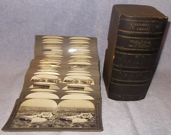 Primary image for Antique Stereographic Set World War 1 Vol 1 Stereoview Stereoscope Cards Lot