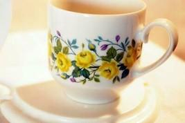 Winterling Schwarzenbach Yellow Rose Demitasse Cup 2 oz. - $7.19