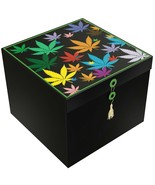 EZ Gift Box Leaves Kabiss 10x10 Decorative Gifts No Wrapping Needed - £10.98 GBP