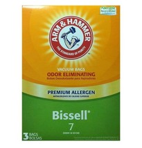 Arm & Hammer Bissell 7 Vacuum Bags 9 Total Bags 62615G Odor Eliminating - $26.95