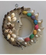 Unique Handmade Pacific Ocean Seashell Moon/Sun Natural Ocean Decor 7.5 ... - $29.69
