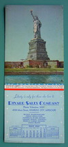 INK BLOTTER AD 1942 - Rivard Sales Co. Kansas City MO & Statue of Liberty - $4.49