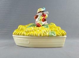 Black Americana Rio Rita Playing Ukulele Banana Boat Ceramic Dish Fitz a... - $25.99