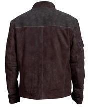 Han Solo A Star Wars Story Warrior Alden Ehrenreich Brown Suede Leather Jacket image 8