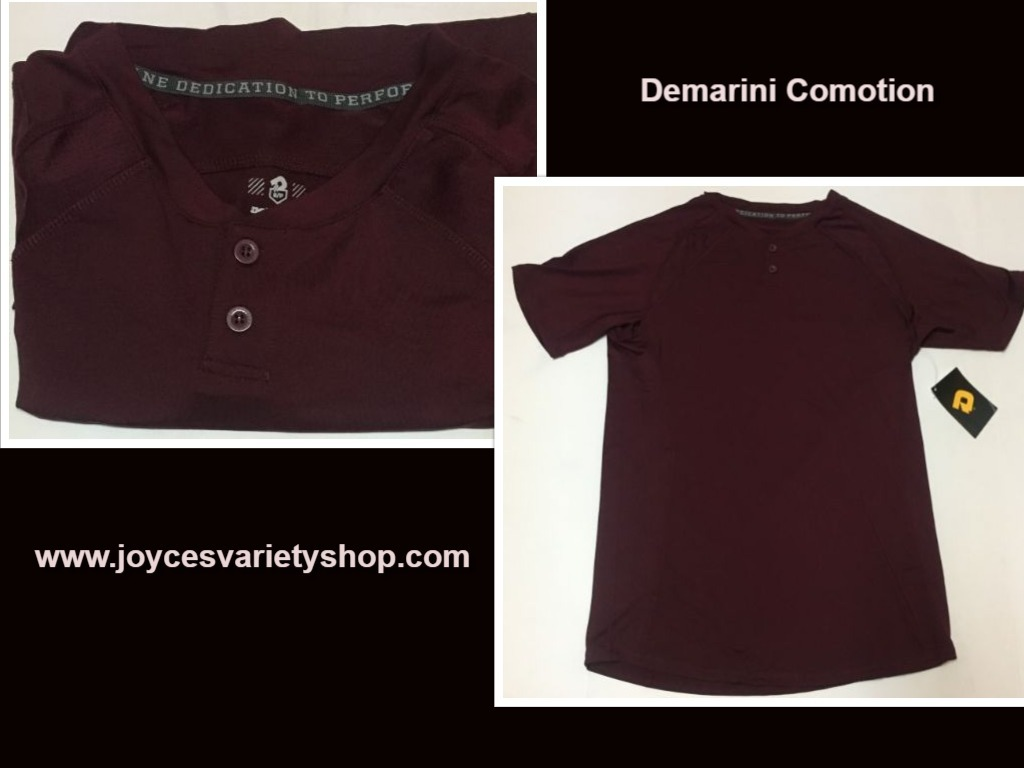 Demarini comotion maroon shirt web collage