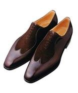 Handmade Men two tone shoes, Men wing tip shoes, Men dress shoes, shoes ... - $169.99