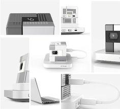 New SK UO Smart Beam 2 White Pico Portable Mini Projector for Smartphone+Tripod image 3