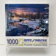"""Bits and Pieces Puzzle """"Holy Night"""" 1000 Pieces New Sealed Winter Snow Theme - $19.50"""