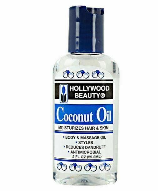 Hollywood Beauty Coconut Oil Moisturizes Hair & Skin for Body Massage Oil 2oz