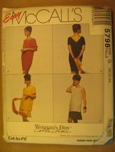 UNCUT Pattern 1991 EASY McCall SIZE 8 10 12 14 16 18 20 22 24 DRESS 5798... - $4.80