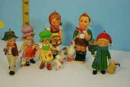 Lot of Kurt Adler Hummel Style Hong Kong Christmas Children Ornaments Used - $19.95