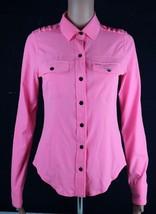 Hurley Phantom Donna T-Shirt Pulsante Anteriore Maglia TAGLIA S - $20.77