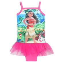 NWT Disney Moana Pink Or Purple Tutu Bathing Suit Size 3 4 5 6 - $7.99