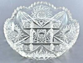 American Brilliant Period Cut Dish Glass ca1900 - $35.00