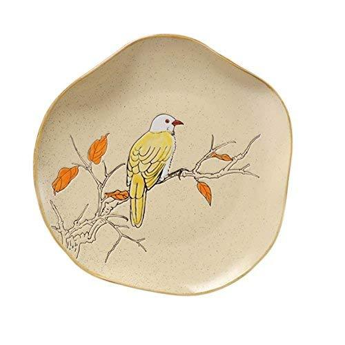 Primary image for DRAGON SONIC Ceramic Western Plate Steak Fruit Plate Creative Cutlery