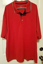 IZOD GOLF POLO SHIRT Mens 4XL Red Short Sleeve Logo On Chest - $17.45