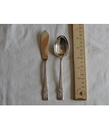 Oneida Community Coronation Sugar Spoon Shell Master Butterknif Silverpl... - $10.48