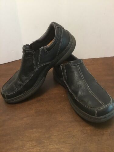 Primary image for Dr Martens Colton Slip On Loafers Mens Sz 10 M Black Leather Shoes