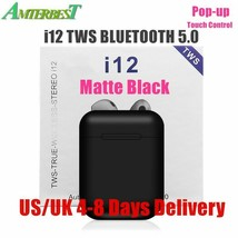 AMTERBEST I12 TWS Touch Control Mini Wireless Bluetooth 5.0 Earphones Stereo - $21.99